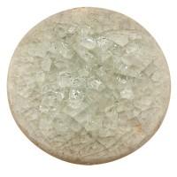 Keramikcabochon, Rund, khaki, Durchmesser 20, Höhe 3 mm