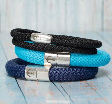 Schmuckanleitung für selbstgemachte Armbänder aus Segelseil