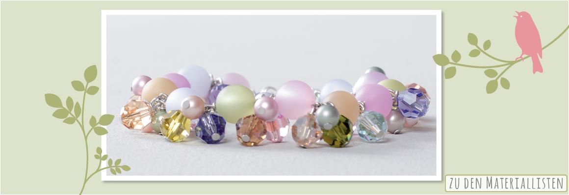 Armband mit Swarovski Elements und Polaris Perlen