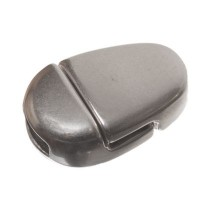 Magnetverschluss, oval, für breite Bänder (5 x 2 mm), versilbert