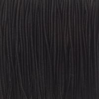 Gummikordel, Durchmesser 1,0 mm, Länge 20 m, schwarz