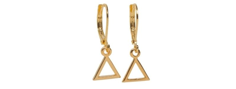 Geometrics-Ohrhänger Offenes Dreieck Vergoldet