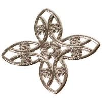 Metallelement Blume, ca. 17,5mm, versilbert