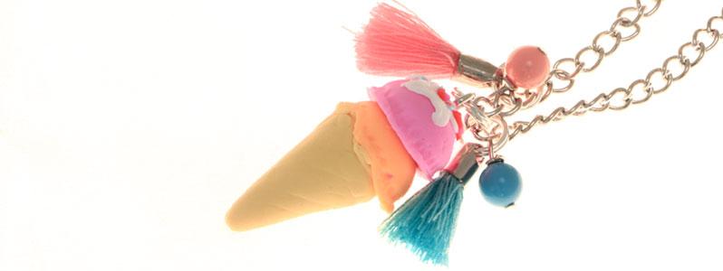 Tiny Food zuckersüße Sommerkette Eistüte