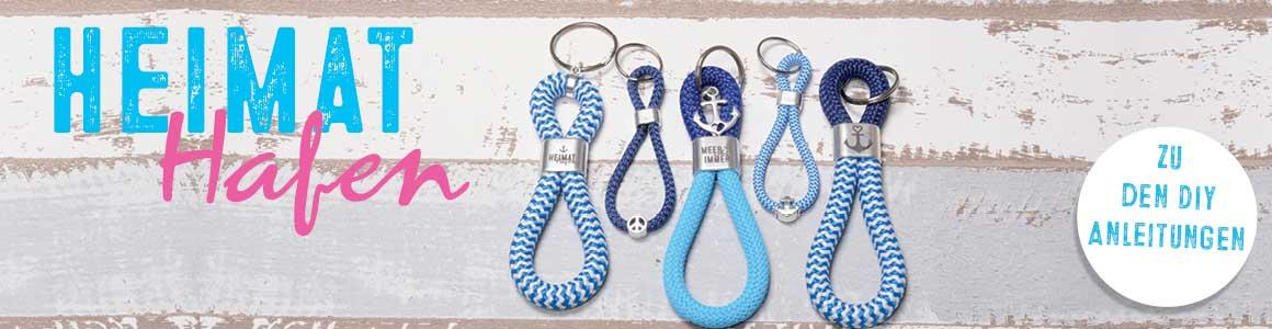 Segelseil 10 mm und Kappen für Schlüsselanhänger kaufen