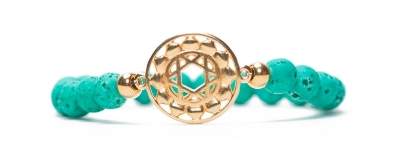 Armband Herzchakra vergoldet grün