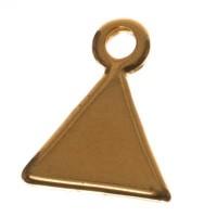 Metallanhänger Dreieck, 11 x 9 mm, vergoldet