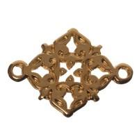 Armbandverbinder Filgranes Ornament, 20 x 15 mm, vergoldet