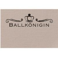 """Schmuckkarte """"Ballkönigin"""", beige, Größe 8,5 x 5,5 cm"""