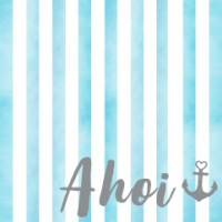 """Schmuckkarte """"Ahoi"""", quadratisch, Größe 8,5 x 8,5 cm"""