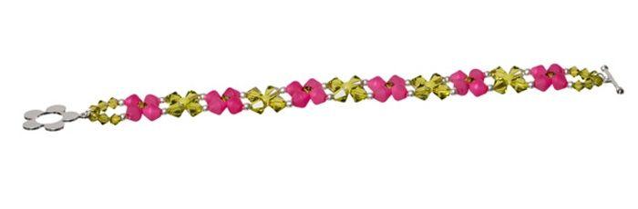 Armband Kegelklunker Fuchsia