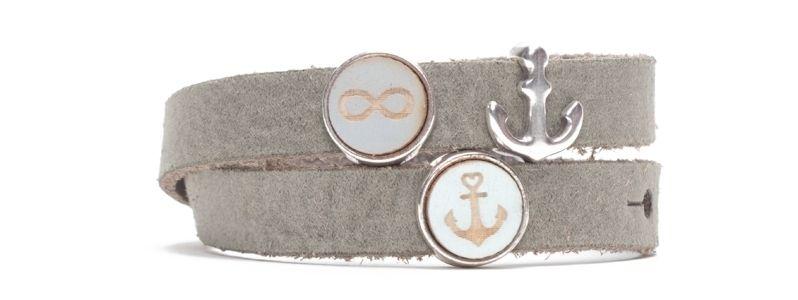 Craft Lederarmband für Slider Perlen Anker