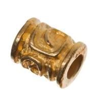 Metallperle, Röhre, ca. 12 x 8 mm, vergoldet