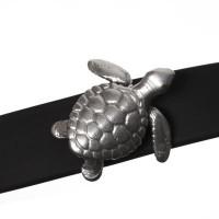 Screws Oberteil, Schildkröte, 17 x 17 mm, versilbert