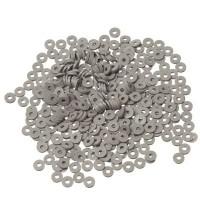 Katsuki Perlen, Durchmesser 6 mm, Farbe Dunkelgrau, Form Scheibe , Menge ein Strang