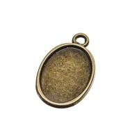 Anhänger/Fassung für Cabochons, 18 x13 mm, antik bronzefarben