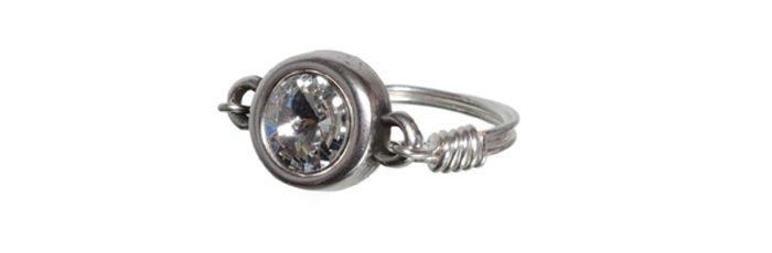 Ring Rivoli-Fassung Crystal