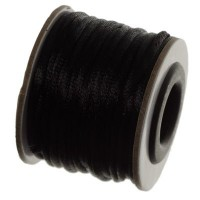 Makramee-Band, Durchmesser 2 mm, 10 Meter-Rolle, schwarz