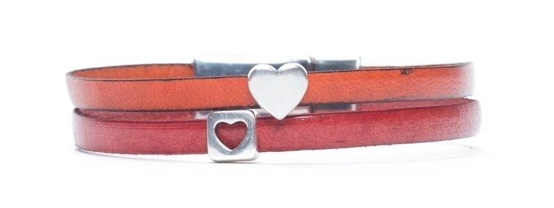 Minisliderarmband Herzen Rot