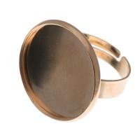 Ring für runde Cabochons 20 mm zum Einkleben, goldfarben