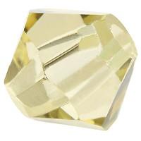 Preciosa Rondelle Bead/Bicone, 6 mm, jonquil