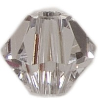 Swarovski Elements Bicone, 4 mm, crystal