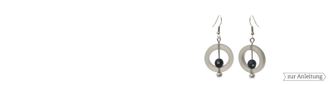 Polarisperlen mit Swarovski Kugel 8 mm