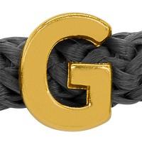 Grip-It Slider Buchstabe G, für Bänder bis 5mm Durchmesser, vergoldet