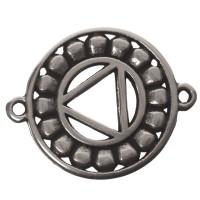 Armbandverbinder Nabel-/Solarplexuschakra, 24 x 20 mm, versilbert