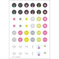 """Motivbogen, 16 mm, rund, """"Weihnachten"""", 48 Motive, Cabochonvorlagen"""