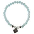 Polaris-Armband Pastellblau Herz