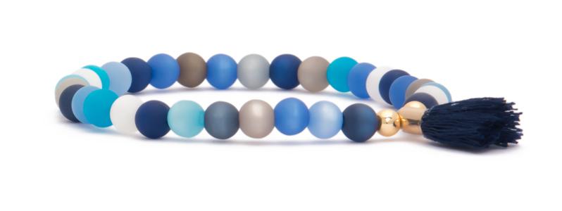 Armband mit vergoldeten Perlen Kugeln und Polaris