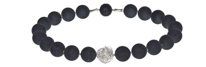 Wickelkugelkette Schwarz