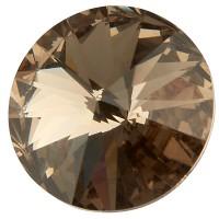 Preciosa Rivoli Maxima SS39 (ca. 8 mm), black diamond DF (Dura Foiling)