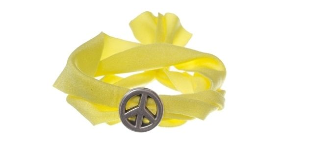 Lycra-Armband Yellow Peace
