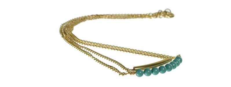 Goldene Doppelkette Jade