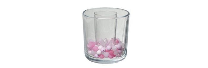 Dekoglas Pastell-Pink-Mix