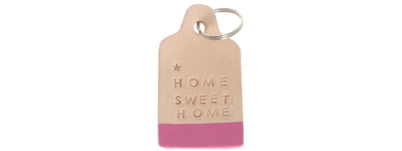Leder-DIY Schlüsselanhänger Home Sweet Home