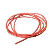 Lederband, 2 mm, Länge 1 m, rot