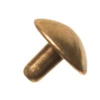Anhängerkappe ohne Öse für Polarisperlen ab 1,8 mm Bohrung, bronzefarben