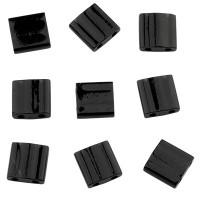 Miyuki Tila Bead 5 mm, black, Röhrchen mit ca. 7,2 gr