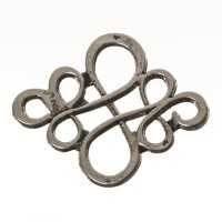 CM Metallanhänger Chinesischer Knoten, 22 x 18 mm, silberfarben