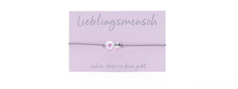 Wunscharmband Herz & Stern