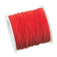 Gummikordel, Durchmesser 1,0 mm, Länge 20 m, rot