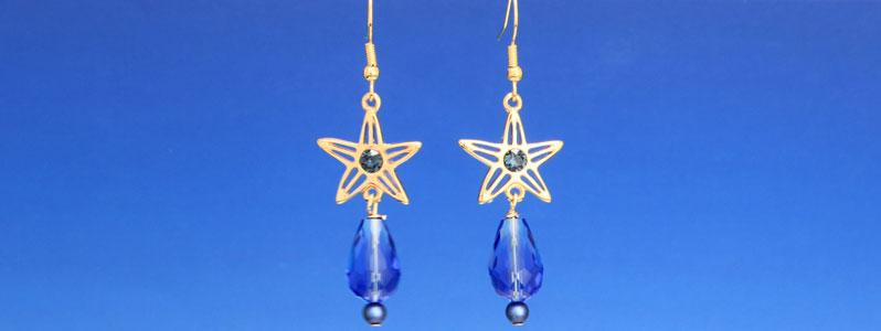 Ohrringe für Meerjungfrauen mit Facetttropfen