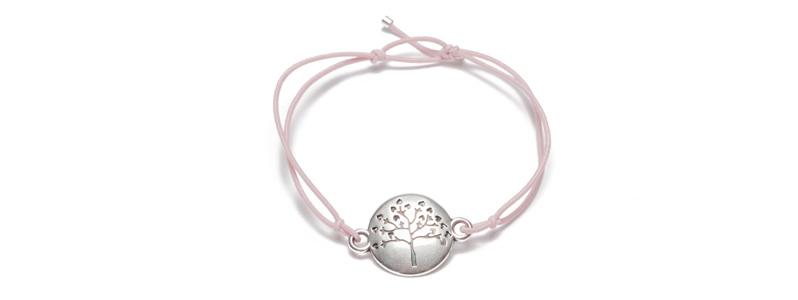 Armband mit Armbandverbinder und Gummiband Baum