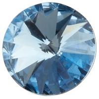 Preciosa Rivoli Maxima SS39 (ca. 8 mm), light sapphire DF (Dura Foiling)