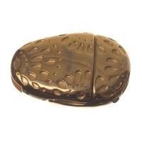 Magnetverschluss, oval, gemustert, für breite Bänder (10 x 2 mm), vergoldet