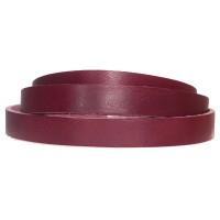 Lederband, 10 x 2 mm, Länge 1 m, dunkelrot
