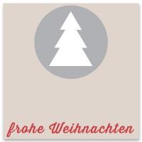 """Schmuckkarte """"Frohe Weihnachten"""", grau, quadratisch, Größe 8,5 x 8,5 cm"""